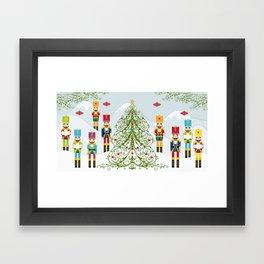 Nutcrackers choir Framed Art Print