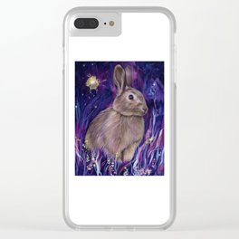 Rabbit Spirit Clear iPhone Case