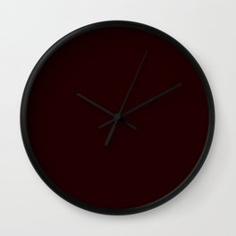 Delirious Place ~ Dark Red-brown Wall Clock