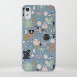 Lunar Pattern: Blue Moon iPhone Case