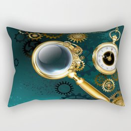 Magnifier in Steampunk Style Rectangular Pillow