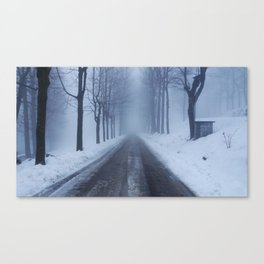 A snowy day out Canvas Print