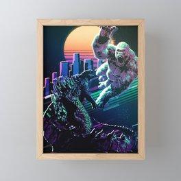 Monster fighters Framed Mini Art Print