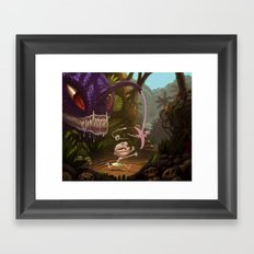 Land Angler Framed Art Print