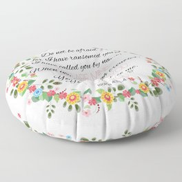 Isaiah 43: 1-4 Floor Pillow