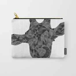 Grayscale Giraffe Carry-All Pouch