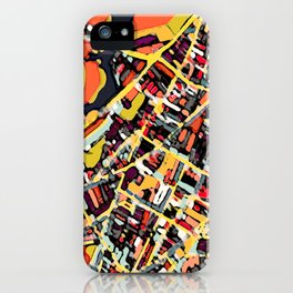 Abstract Map - Somerville MA iPhone Case