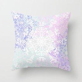 Spring Mandala on Concrete Throw Pillow