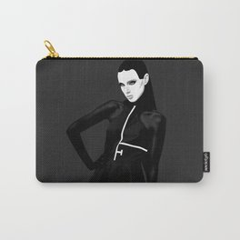 black & little white Carry-All Pouch