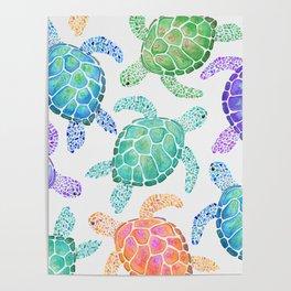 Sea Turtle - Colour Poster