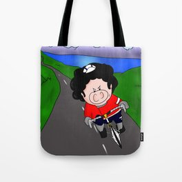 Cycling pig Tote Bag