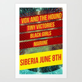 Vox and the Hound Live Show Poster Art Print