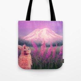 Sunset on Mount Rainier Tote Bag