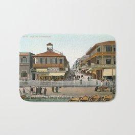 Vintage Egypt, port Said Commerce Street Bath Mat