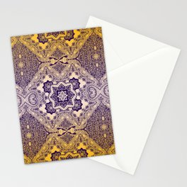 ornamental paisley with diamond on yellow ombre Stationery Cards