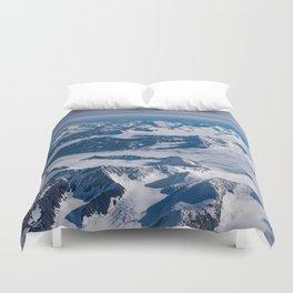 Aerial Glacier Four - Alaska Duvet Cover