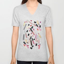 Lipstick Party - Dark Unisex V-Neck