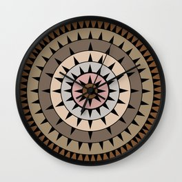 Grays & Browns Wall Clock
