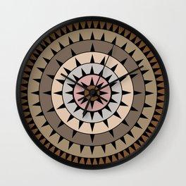 Grays & Browns Wall Clock