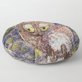 Owl art Floor Pillow
