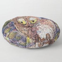 Owl art Floor Pillow
