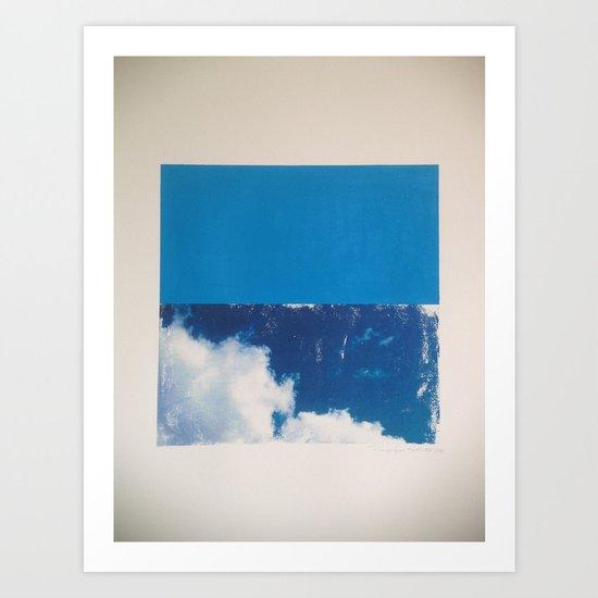 SKY/BLU Art Print