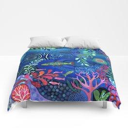 Botanical Sea Garden Comforters