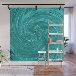 Watch the Swirling Water Go Down the Drain Wall Mural