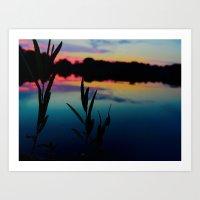 Lake Vibes Art Print
