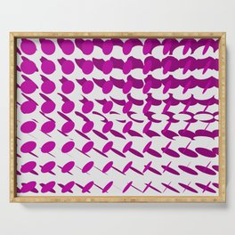 elipse grid pattern_magenta02 Serving Tray