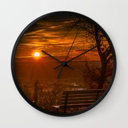 Sunset in the Park Photograph Wall Clock