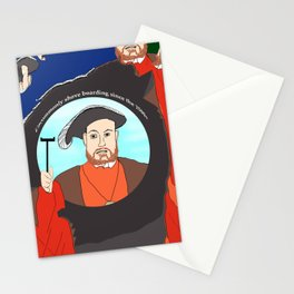 King Henry VIII Plays Shuffle Stationery Cards