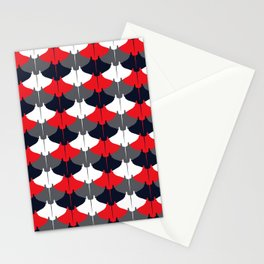 Manta Ray Pattern (Blue and Red) Stationery Cards