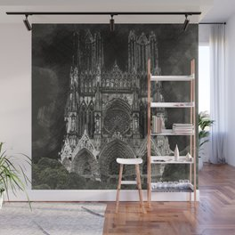 Cathedral Black Wall Mural