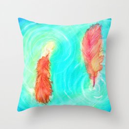 Fire and the Flood Throw Pillow