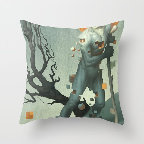 Aboard a Dying Construct Throw Pillow