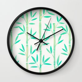 Bamboo Stems – Mint Palette Wall Clock