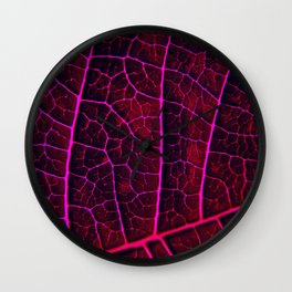 LEAF STRUCTURE RED VIOLET Wall Clock