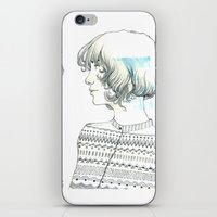 diamond iPhone & iPod Skins featuring Diamond by TamSanSerif