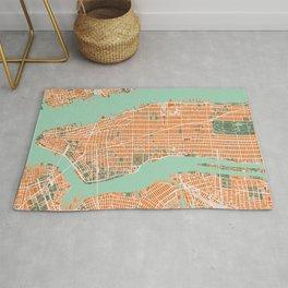 New York city map orange Rug