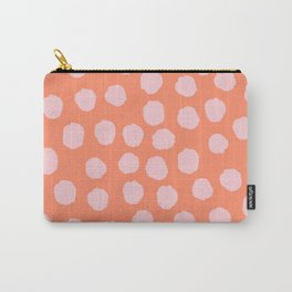 Dots - Peach Carry-All Pouch