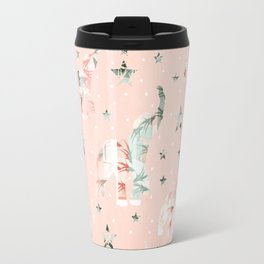 Pastel Tone Elephants Stars Pattern Travel Mug
