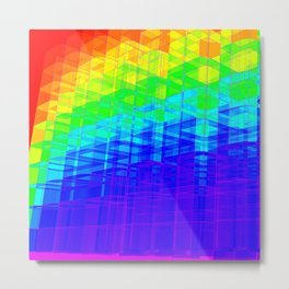 Colorful Abstract Structure Metal Print