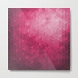 Hot Pink Geometric Pattern Design Metal Print
