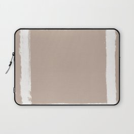 Square Strokes White on Nude Laptop Sleeve