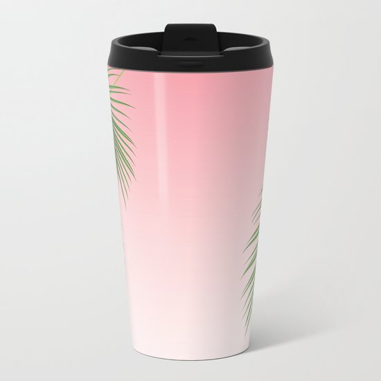 Palm Tree Leaves Metal Travel Mug