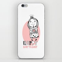 happy birthday iPhone & iPod Skins featuring Happy Birthday by De Assuncao création
