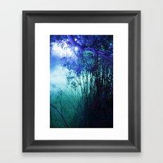 night lake Framed Art Print