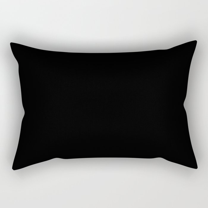 Simply Midnight Black Rectangular Pillow