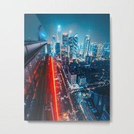 Nightscape Neon Metal Print